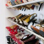chrome rod shoe shelving