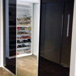 black glass sliding doors