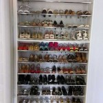 ladies chrome rod shoe shelving