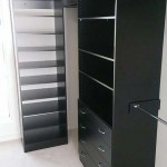 black shelving