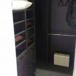 walk-in wardrobe black